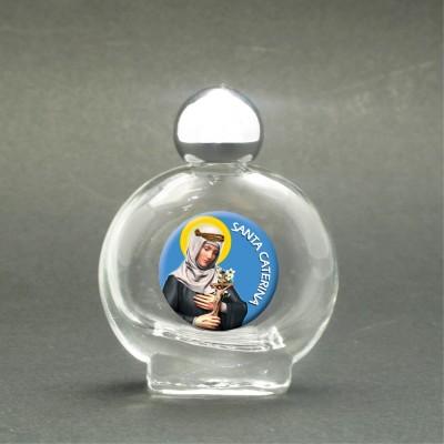 Santa Caterina da Siena - Bottiglietta per acqua santa con immagine sacra