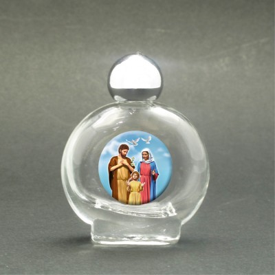 Sacra Famiglia - Bottiglietta per acqua santa con immagine sacra