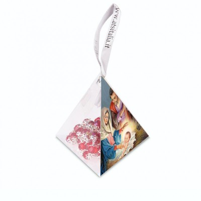 "PVC pyramids ""Nativity 4"" with crystal Rosary"
