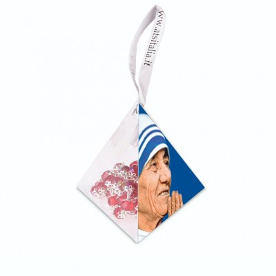 "PVC pyramids ""Saint Theresa of Calcutta"" with crystal Rosary"