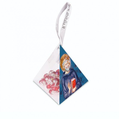 "PVC pyramids ""Saint Benedict"" with crystal Rosary"