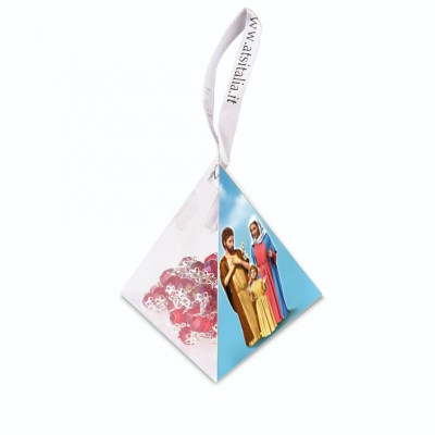 "PVC pyramids ""Holy Family"" with crystal Rosary"