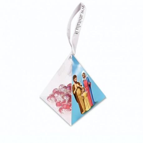 "PVC pyramids ""Holy Family"" with crystal Rosary"