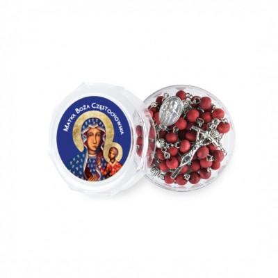 Madonna di Czestochowa - Scatola con Rosario profumato