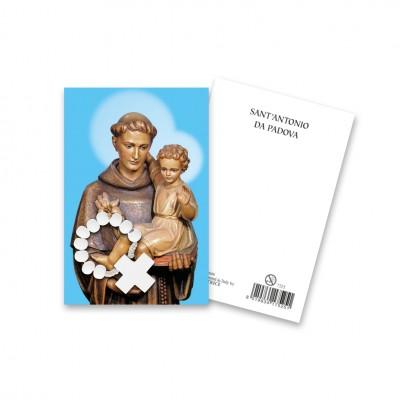 """Immaginetta """"Sant'Antonio"""" con decina Rosario in legno"""