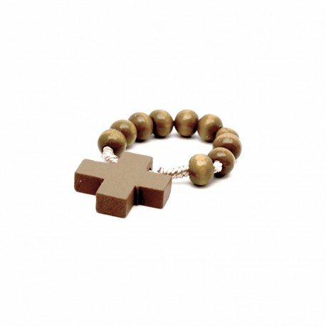 """Picture """"Saint Peter"""" with wooden decade Rosary"""